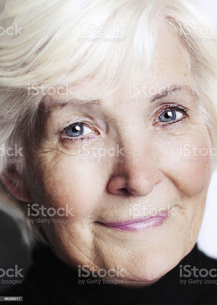 Senior lady close-up royalty-free stock photo