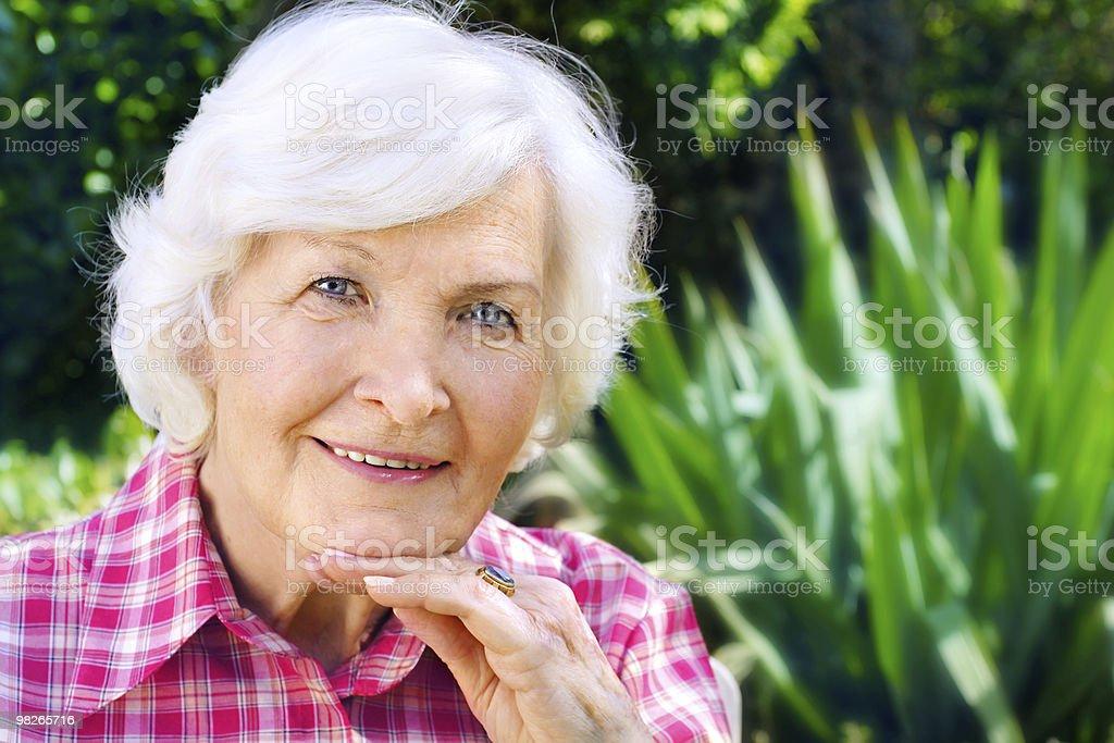 Senior lady outdoor royalty-free stock photo