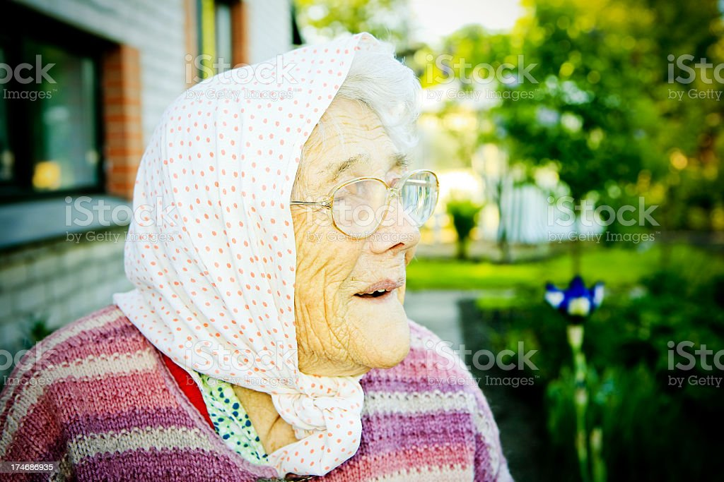Senior lady royalty-free stock photo