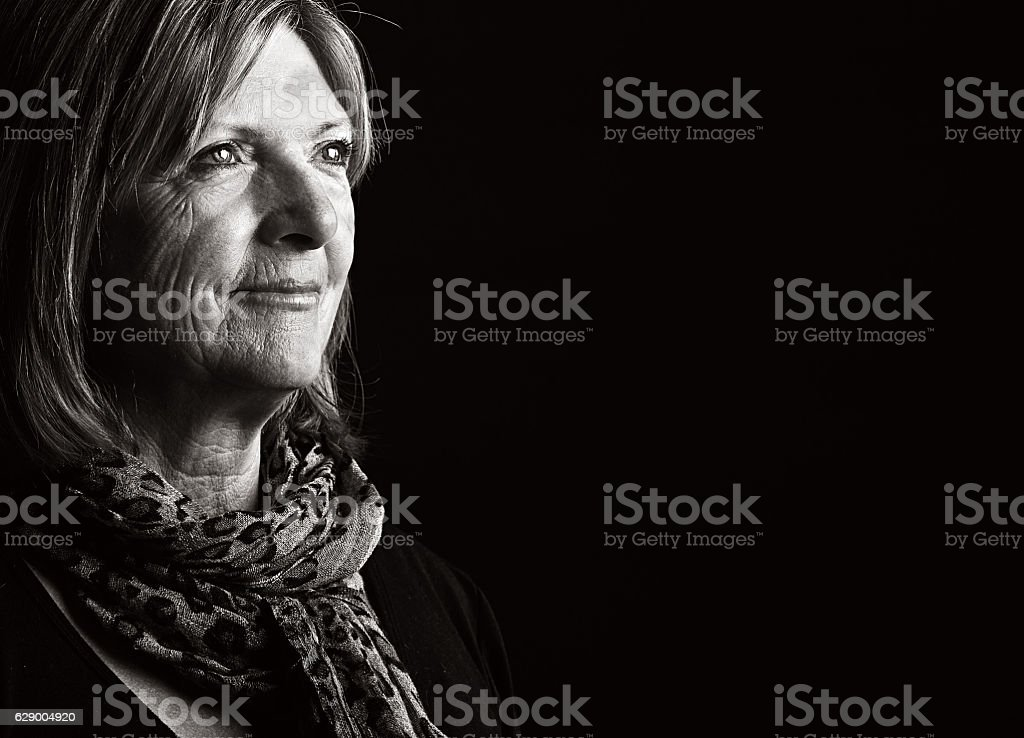 Senior lady stock photo