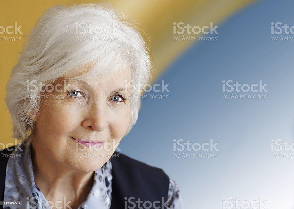 Senior  lady portrait royalty-free stock photo