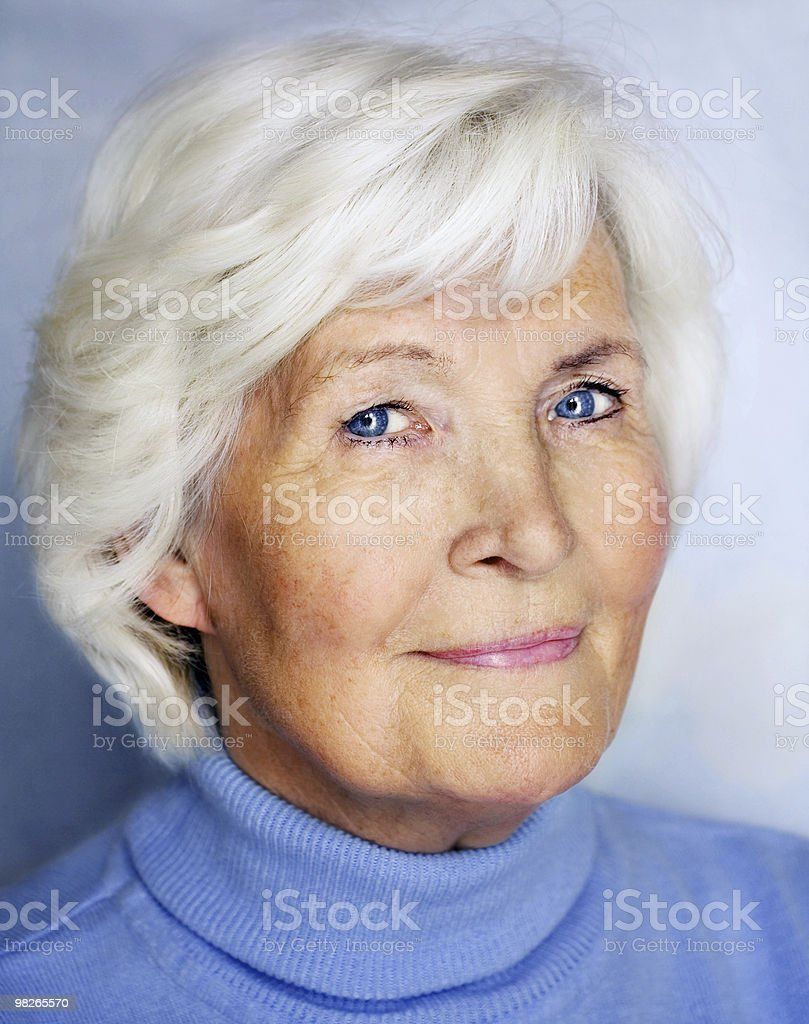 Senior lady portrait royalty-free stock photo