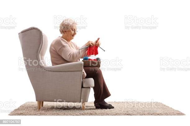 Senior lady sitting in an armchair and knitting picture id892104752?b=1&k=6&m=892104752&s=612x612&h=b7hauwqiefo632rrnaubbd0yknhb9v0llzgnaypqvuu=