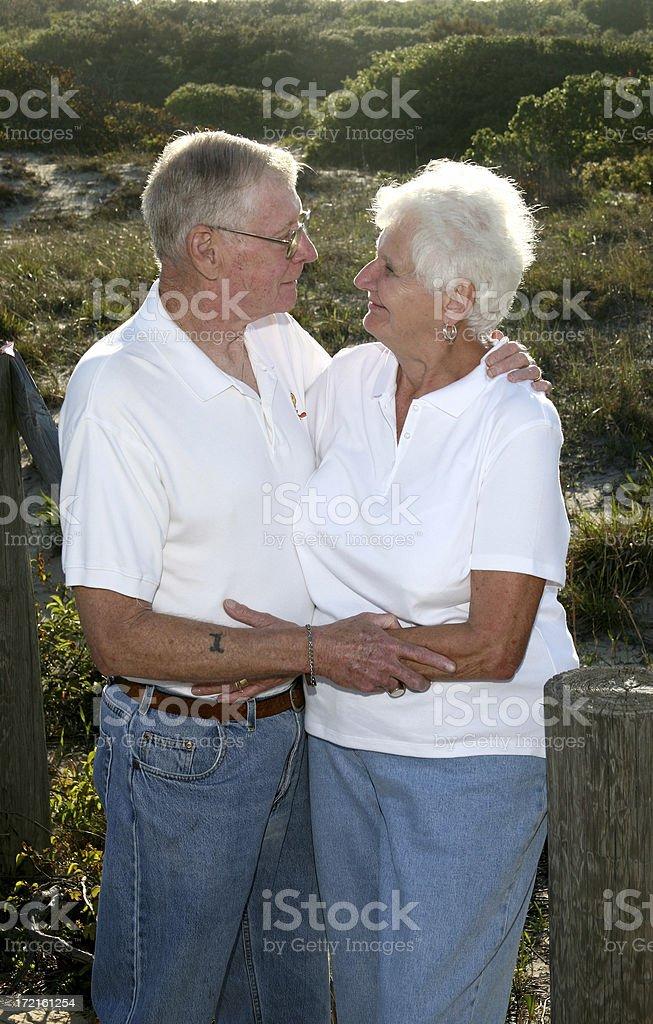 Senior love royalty-free stock photo