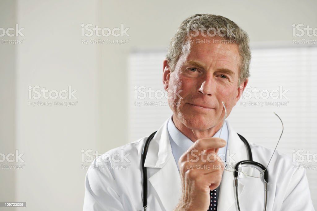 senior male doctor royalty-free stock photo