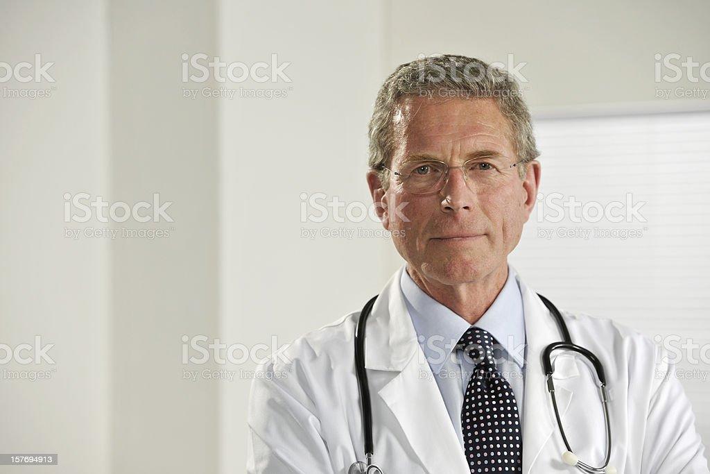 senior male doctor royalty-free stock photo