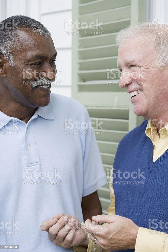 Senior male friends 免版稅 stock photo