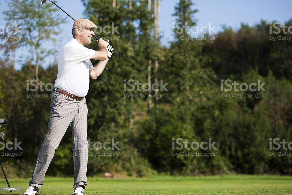 Senior male golf player royalty-free stock photo