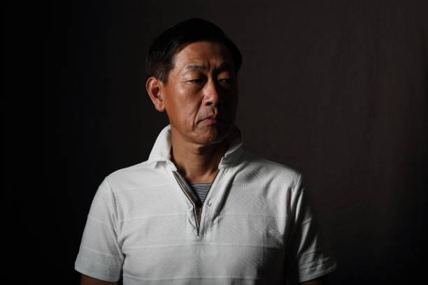 Senior male portrait stock photo