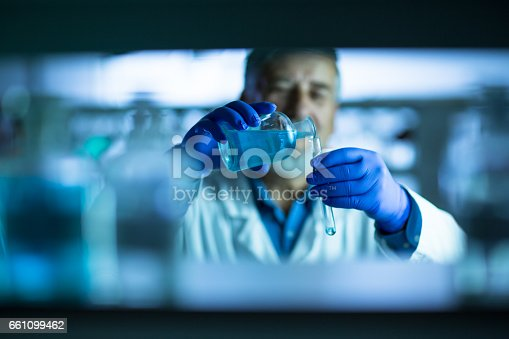 661098200istockphoto Senior male researcher  in a lab 661099462