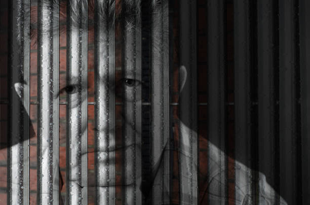 senior man against urban uk background - psychiatric ward stock photos and pictures