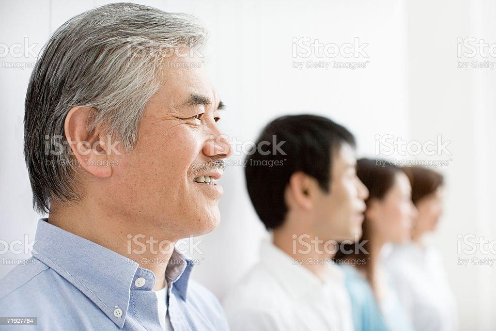 Senior man and family royalty-free stock photo