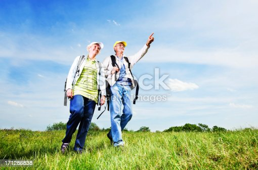 119998253istockphoto Senior man and woman tourists enjoying in the park. 171286838