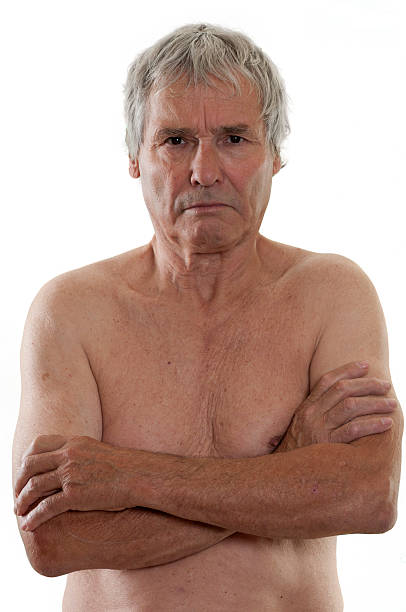 Shirtless Old Man Stock Photos, Pictures & Royalty-Free
