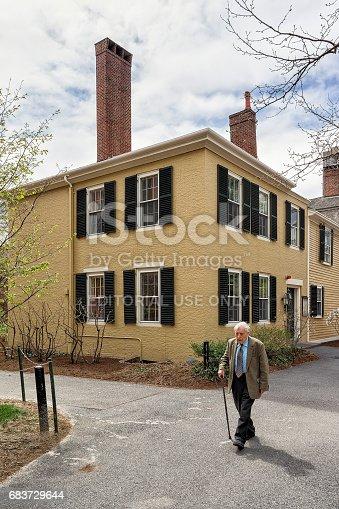 683709204istockphoto Senior man at Harvard Yard of Harvard University 683729644