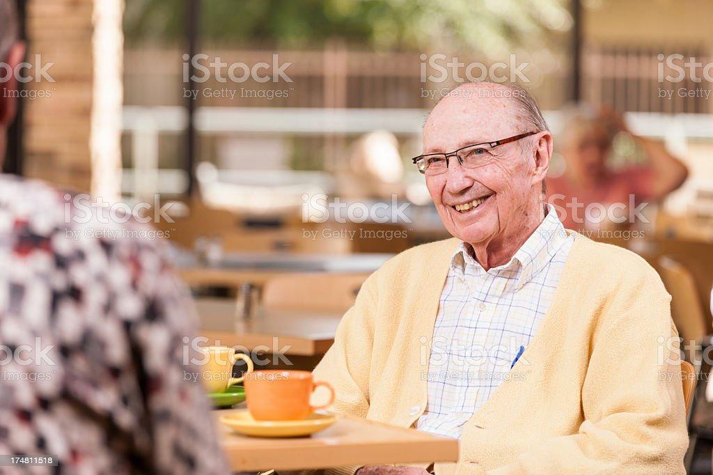 Senior Man at Restaurant royalty-free stock photo