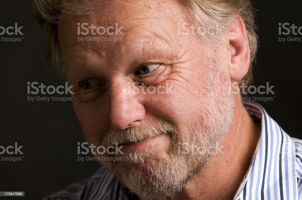senior man close up royalty-free stock photo