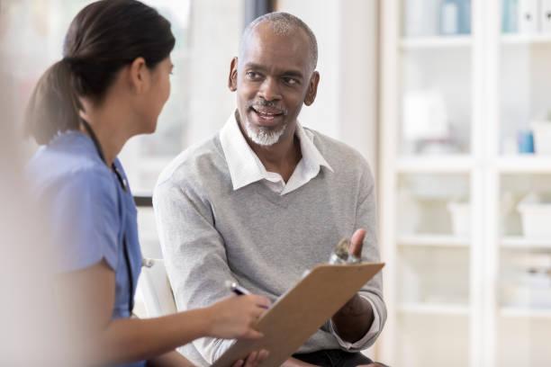 Senior man discusses diagnosis with doctor picture id1067448966?b=1&k=6&m=1067448966&s=612x612&w=0&h=vwmhyhvfn7hdqmc03rrgtmdxf4a b9ntqhxwkzp4g g=