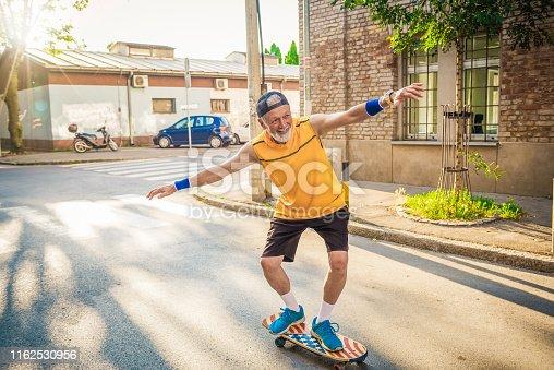 active senior having fun with his retirement