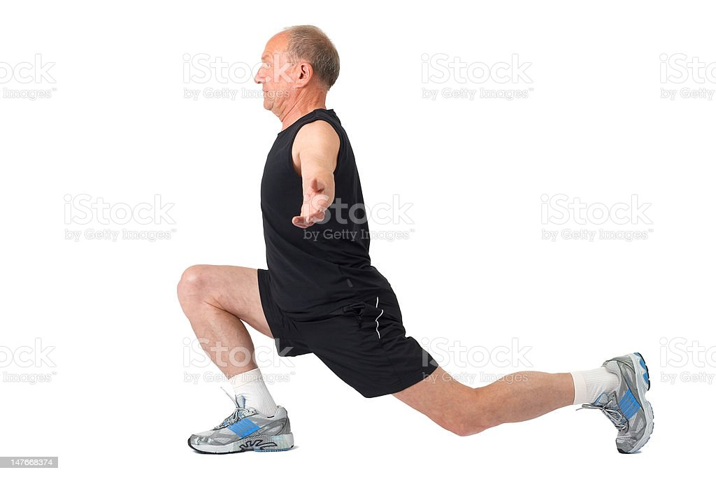 Senior man. Exercise royalty-free stock photo