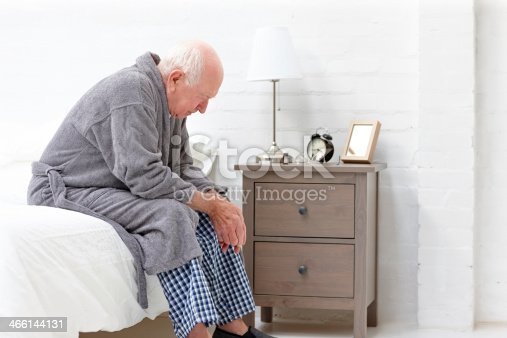 istock Senior man in pensive mood 466144131
