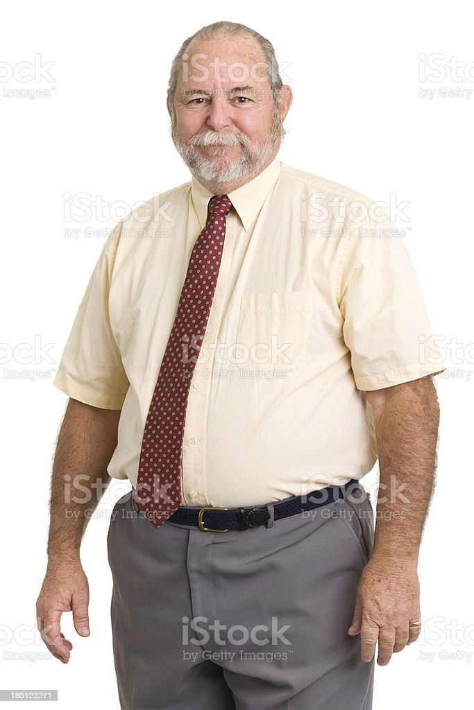 Senior Man In Shirt And Tie stock photo