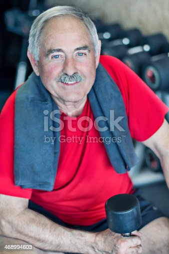 istock Senior man in the gym 468994603