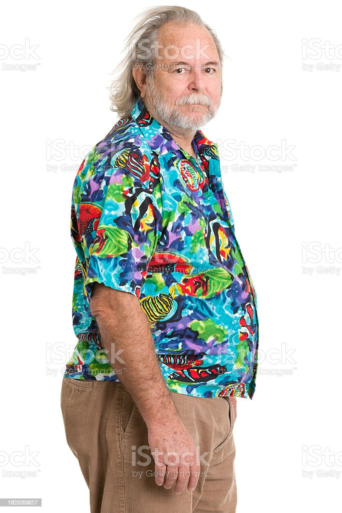 Foto de Homem Sênior Na Camisa Tropical e mais banco de imagens de ... 723a727e85c