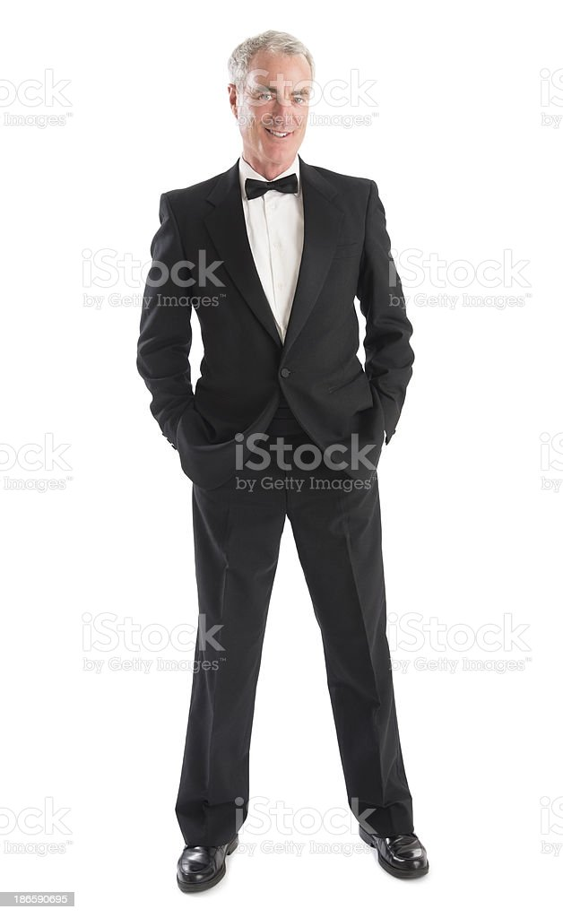 Senior Man In Tuxedo stock photo