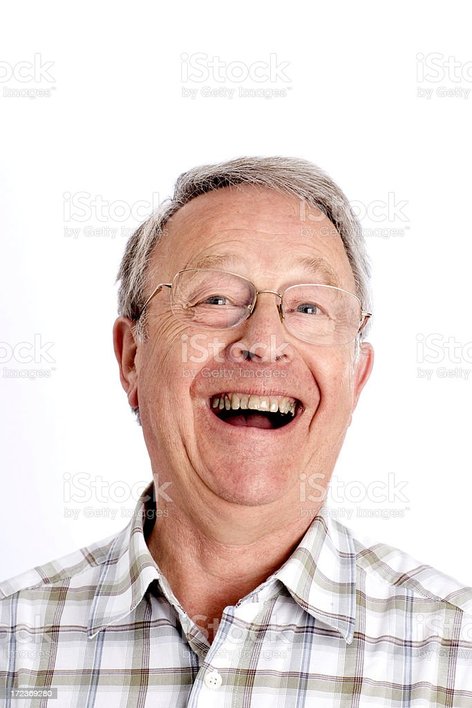 Senior man laughing royalty-free stock photo