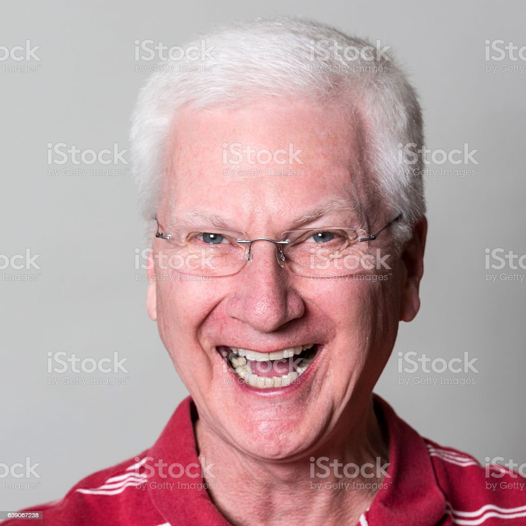 Senior Man Laughing (real people) stock photo