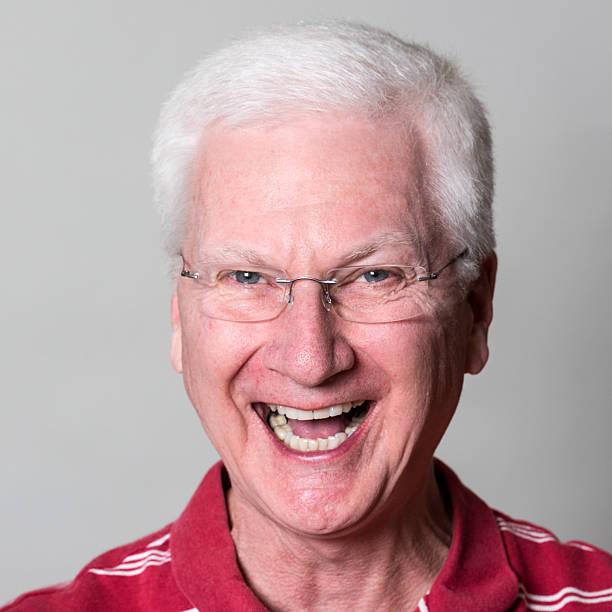 Senior Man Laughing (real people) stock photo