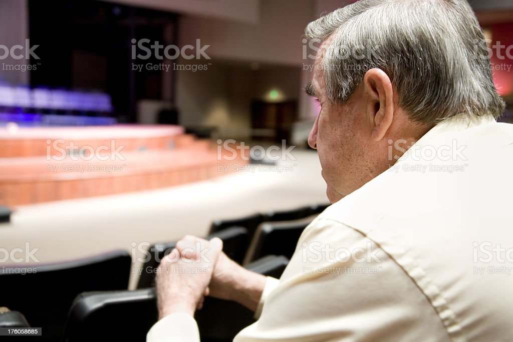 Senior Man Looking Forward at the Auditorium Stage.See more from this...