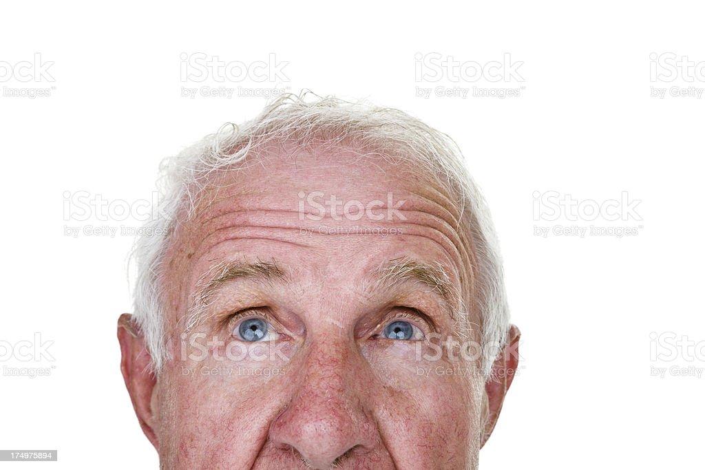 Senior man looking up royalty-free stock photo