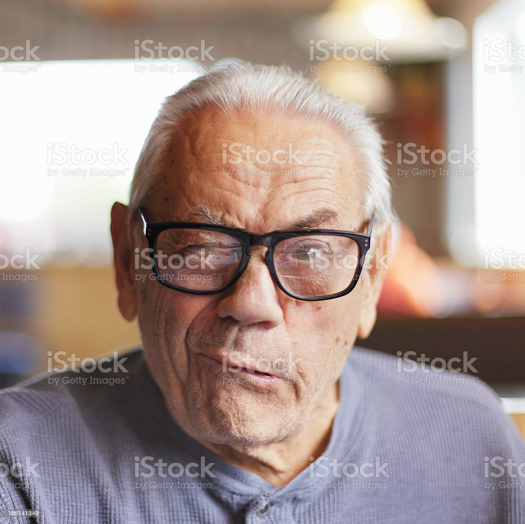 Senior Man Making Funny Face royalty-free stock photo