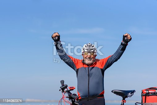 1029243348 istock photo Senior man on his bike 1134092374