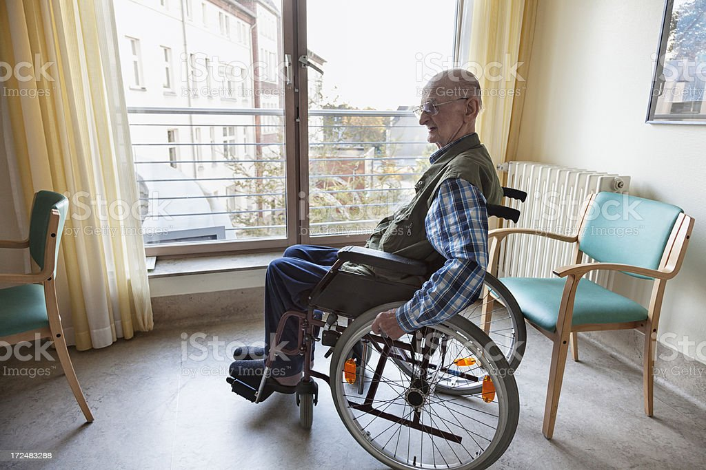 senior man patient in hospital royalty-free stock photo
