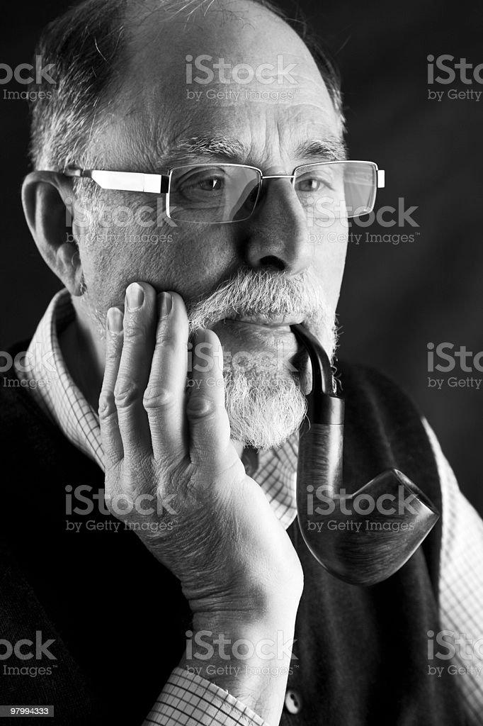 Senior man portrait royalty-free stock photo