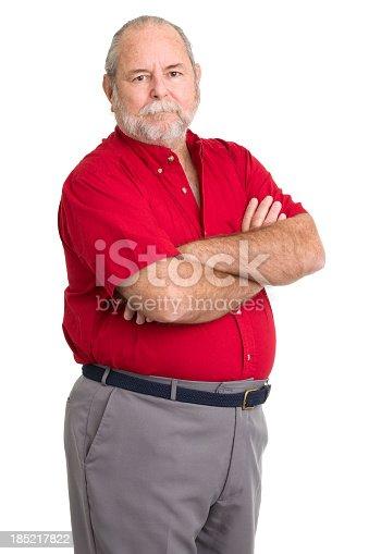 Portrait of a senior man on a white background. http://s3.amazonaws.com/drbimages/m/nb.jpg