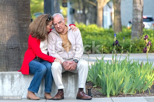 istock senior man possing with his daughter 1011640262
