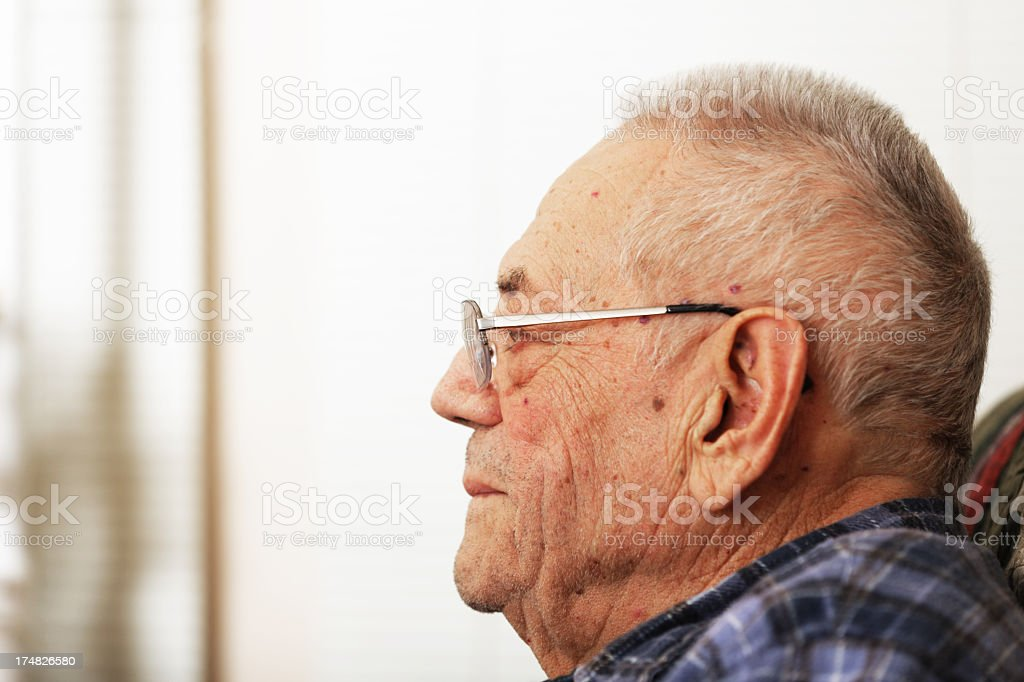 Senior Man Profile royalty-free stock photo
