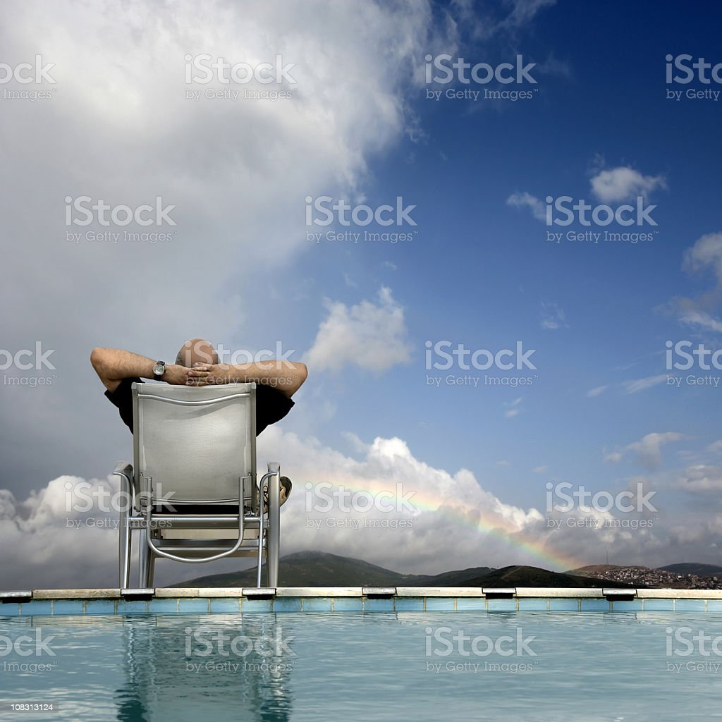 senior man relaxing royalty-free stock photo