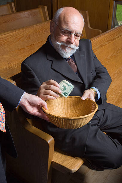 church offering baskets