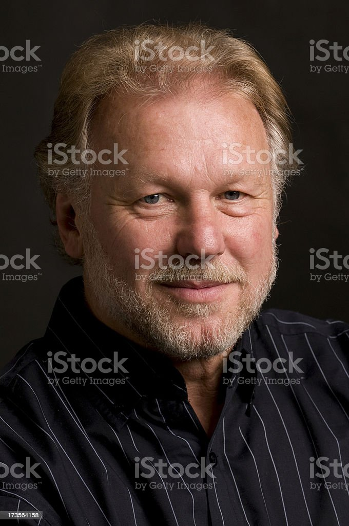 senior man smiling royalty-free stock photo