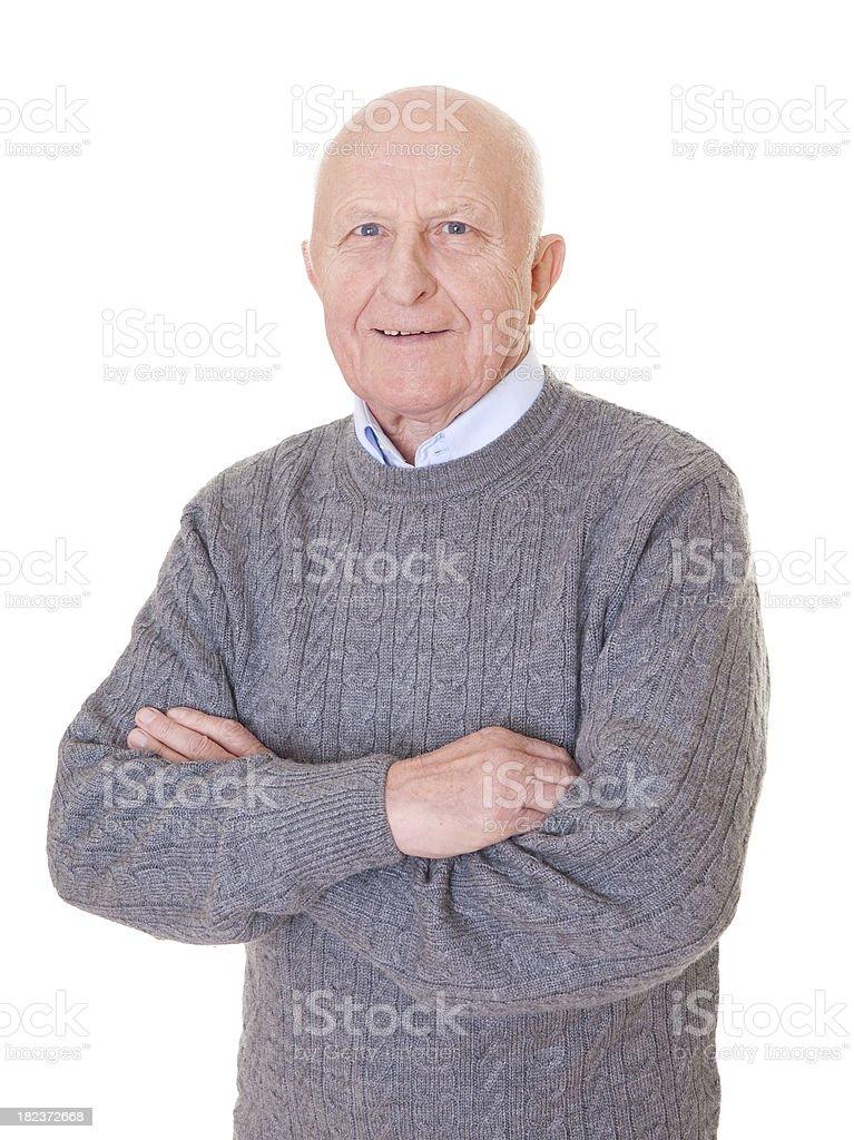 Senior man standing royalty-free stock photo
