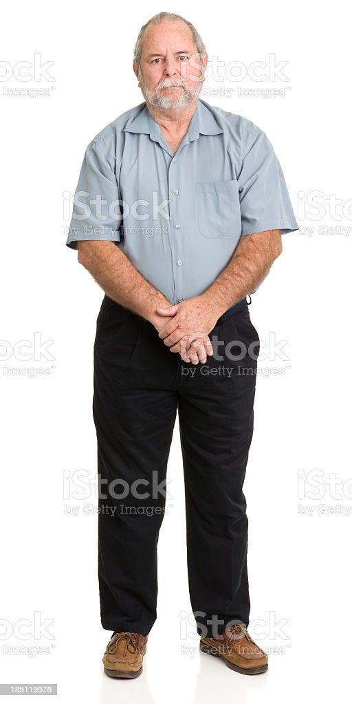 Senior Man Standing Portrait stock photo