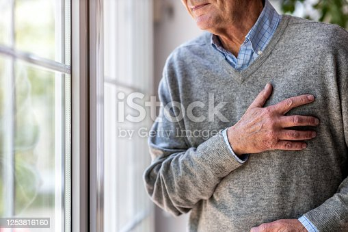 1162960006 istock photo Senior man Suffering From Chest Pain 1253816160