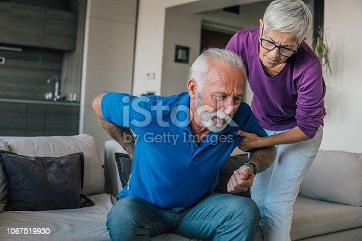 istock Senior man with backache 1067519930