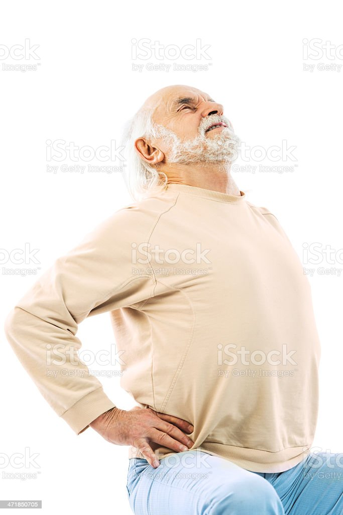 Senior man with backache. royalty-free stock photo