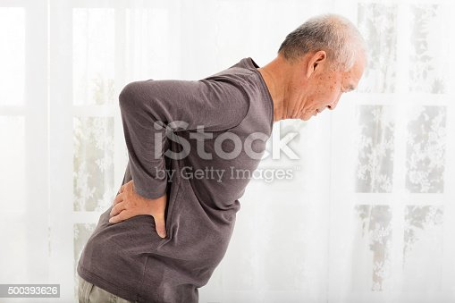 istock senior man with Pain in back 500393626